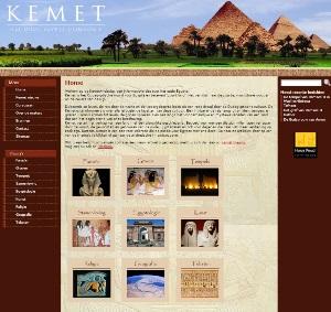 De website kemet.nl met informatie over het Oude Egypte
