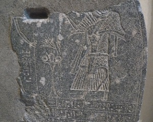 Detail van de ballingschapstèle van Mencheperra uit de Derde Tussenperiode- Louvre Parijs