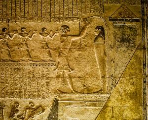 Het mondopeningsritueel in het graf van Petosiris uit de Late Tijd - Toena el-Gebel