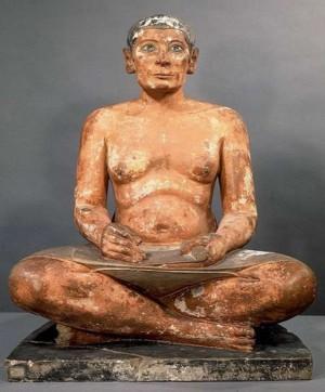 Beeld van een Egyptische schrijver - Louvre Parijs, de bron van informatie