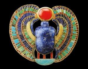 Borstsieraad van Toetanchamon, Egyptisch Museum Caïro, het beeldmerk bij syllabi bestellen